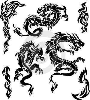 Gallery For gt Japanese Dragon Tattoo Tribal
