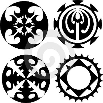 circle tattoos. Best Sun Tattoo on Upper Back