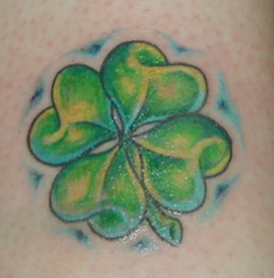 You can choose to get clover tattoo designs made from a color range of solid