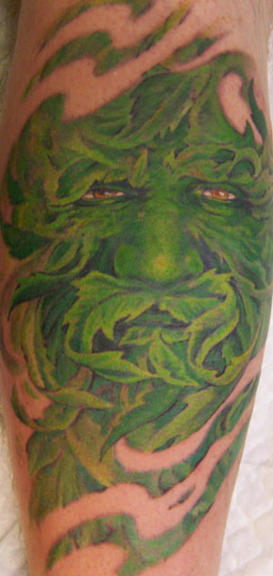 The drawing of the Greenman was done by Jade whom is a very new artist.