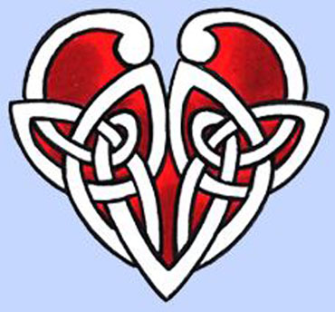 Celtic heart tattoos are once again intertwined knot work in the shape of a