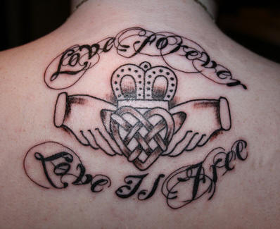 A picture tattoo can be made more beautiful by using tattoo lettering ideas.