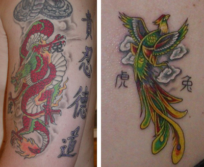 Chinese Tattoo Artist Translates Your words or Names into Chinese symbols